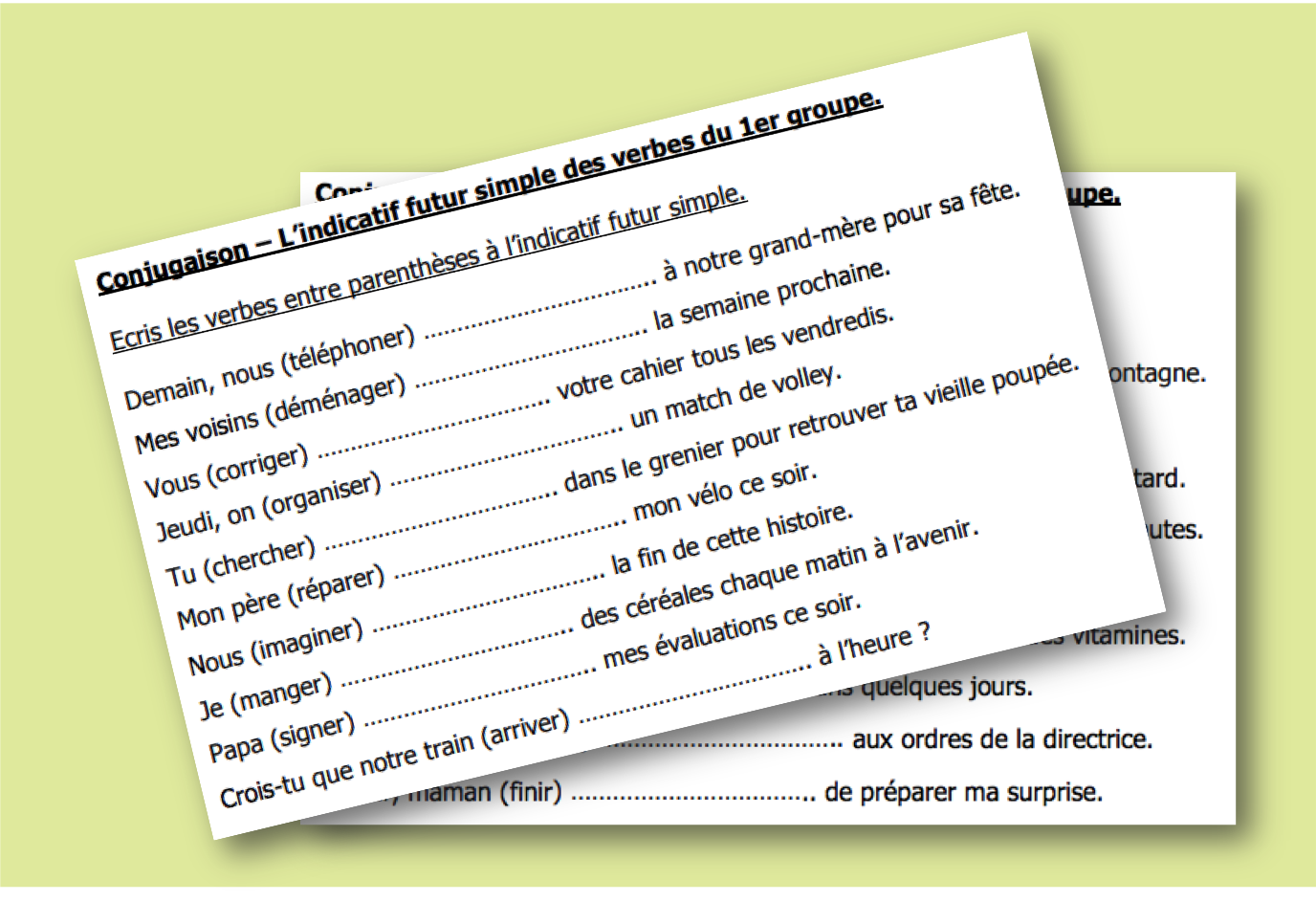 Conjuguer Au Futur Simple Exercices D Entrainement L Ecole D Ailleurs